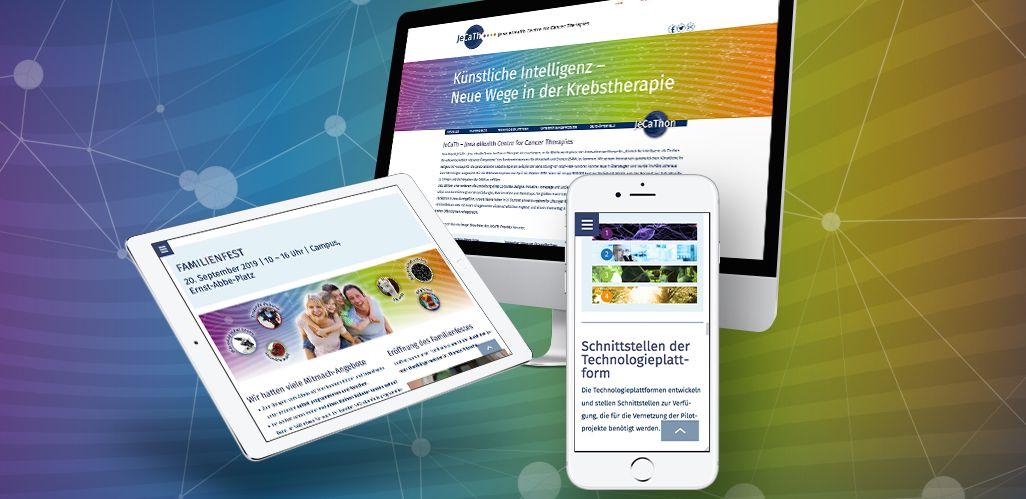 Referenz JeCaTh FSU Jena eHealth Centre for Cancer Therapies Webdesign
